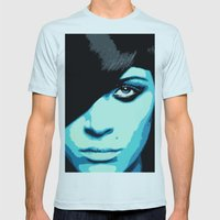 She Is Feeling A Little Blue Today Mens Fitted Tee Light Blue SMALL