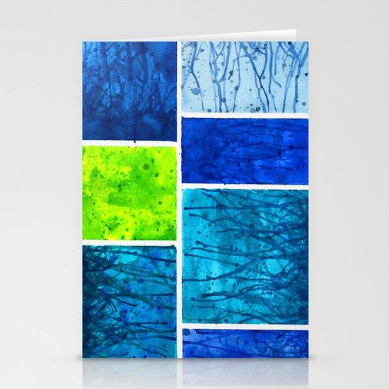 Blue Block Stationery Card