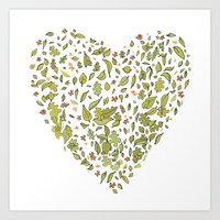 Nature heart Art Print