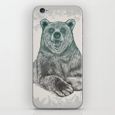 Bear Portrait iPhone & iPod Skin