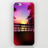 Warm Summer Nights at Dusk iPhone & iPod Skin