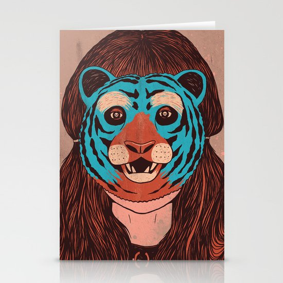 Tiger Face Stationery Card