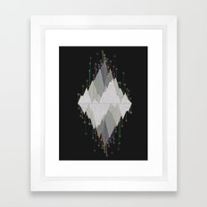 Flocking Mountain Lights Framed Art Print