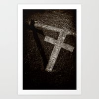 Cross and Shadow Art Print