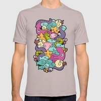 Seafood Mens Fitted Tee Cinder SMALL