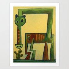 Giant Green Horse Dragon Art Print