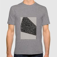 - monolith 3 - Mens Fitted Tee Tri-Grey SMALL