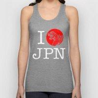 I Love Japan Unisex Tank Top