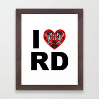 I heart roller derby Framed Art Print