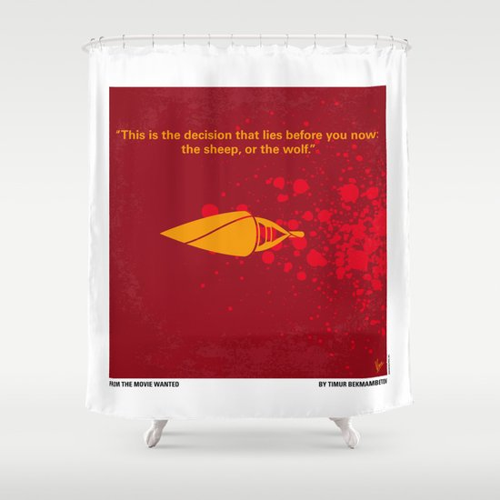 No176 My wanted minimal movie poster Shower Curtain