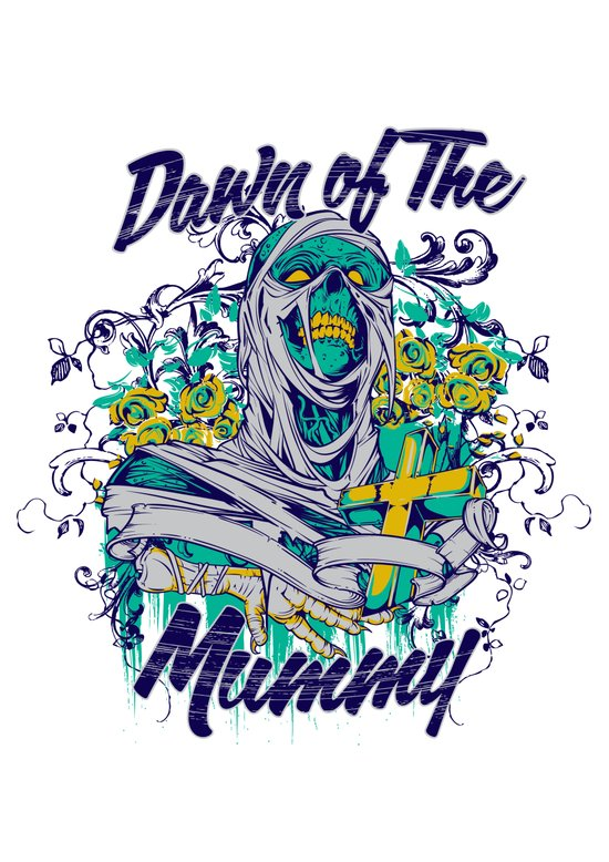 Dawn of the mummy Art Print