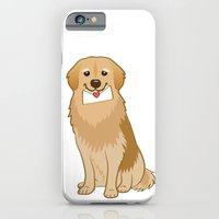 iPhone & iPod Case featuring Love Golden Retriever by Tetchan
