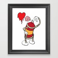 comic graffiti love Framed Art Print