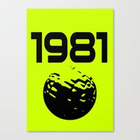 1981 Canvas Print