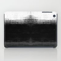 Ocean No. 2 - Minimal ocean abstract painting in black and white iPad Case