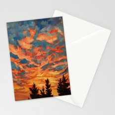 Fire Sky  Stationery Cards