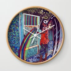 Psychoactive Bear 4 Wall Clock