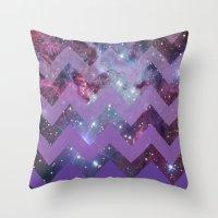 Infinite Purple Throw Pillow
