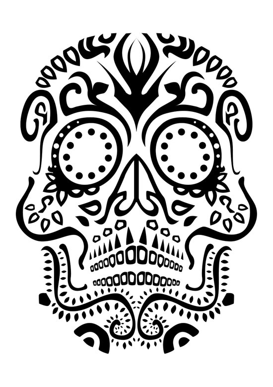 Day of the Dead Skull No.25 Art Print