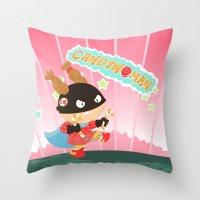 Candywoman Throw Pillow
