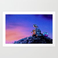 WALL-E (Painting Style) Art Print