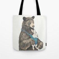 the bear au pair Tote Bag