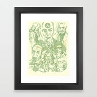 Rise and Shine Green Framed Art Print