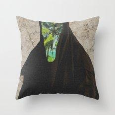 Miss Palms Throw Pillow