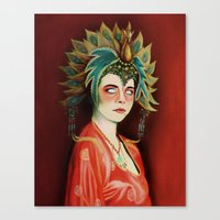 Big Trouble In Little China Kim Cattrall As Gracie Law Oil Painting on Canvas Canvas Print