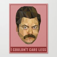 I Couldn't Care Less Canvas Print