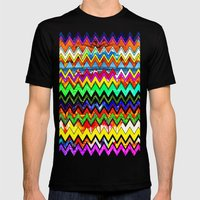 Waves Of Colour Mens Fitted Tee Black SMALL