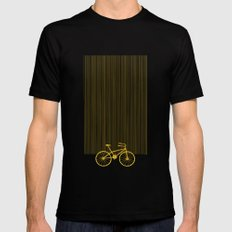 Yellow Bike by Friztin Mens Fitted Tee Black SMALL