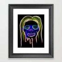Face Illustration 2 Framed Art Print