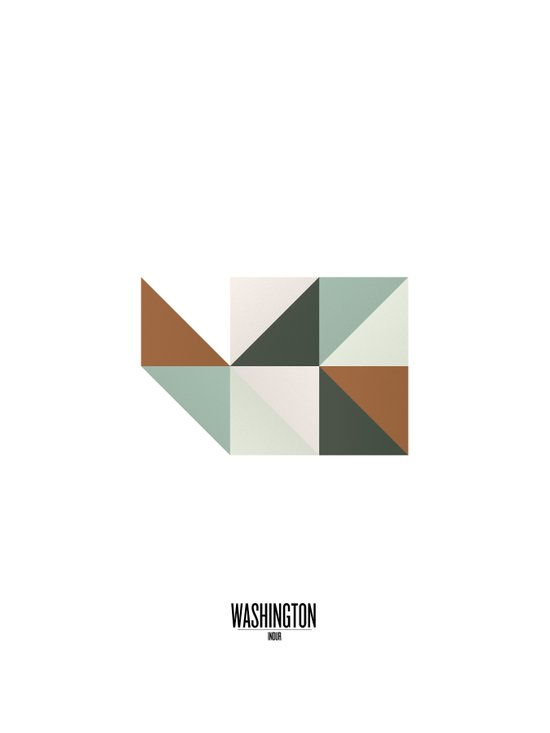 Geometric Washington Art Print