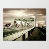 The Green Bridge Canvas Print