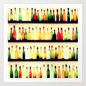 Bottles of Melody Art Print