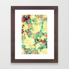 Vintage Flowers XXXVIII - for iphone Framed Art Print