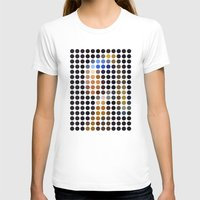 Girl with a Pearl Earring remixed (2009) Womens Fitted Tee White SMALL