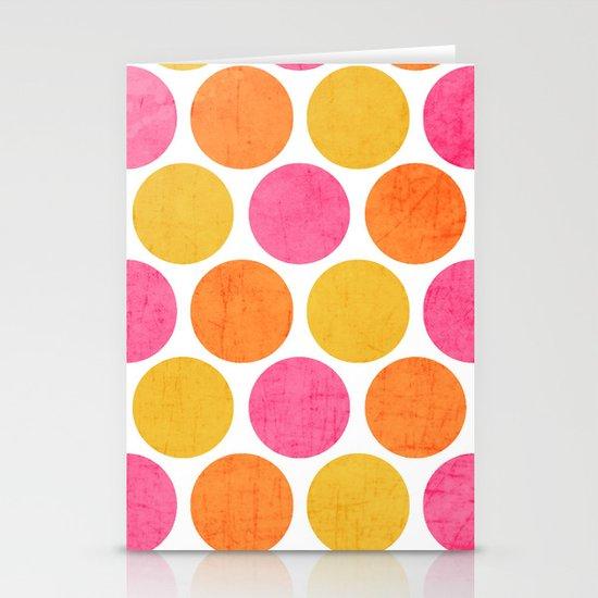 summer polka dots Stationery Card