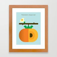 Fruit: Persimmon Framed Art Print