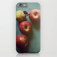 iPhone Cases featuring Autumn Apples by Olivia Joy StClaire