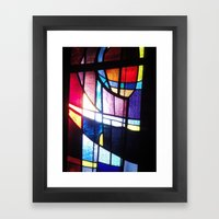 Stained Beauty Framed Art Print