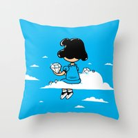 I Wonder Where Lucy Is..… Throw Pillow
