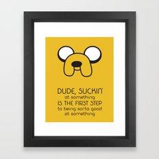 Wisdom From A Dog Framed Art Print