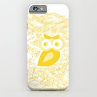 iPhone & iPod Case featuring Yellow Owl by Stylistic