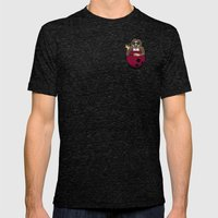 Pocket Dude (03) Mens Fitted Tee Tri-Black SMALL