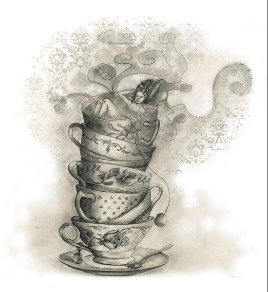 Tea bath Art Print