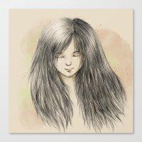 Hair Dreams Canvas Print