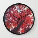 Loving You Was Red Wall Clock