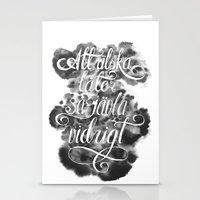 Swedish Love Making Stationery Cards
